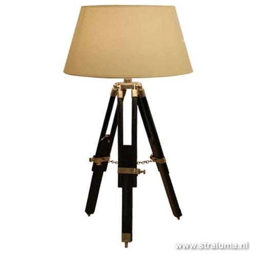 Driepoot tafellamp zwart excl. kap