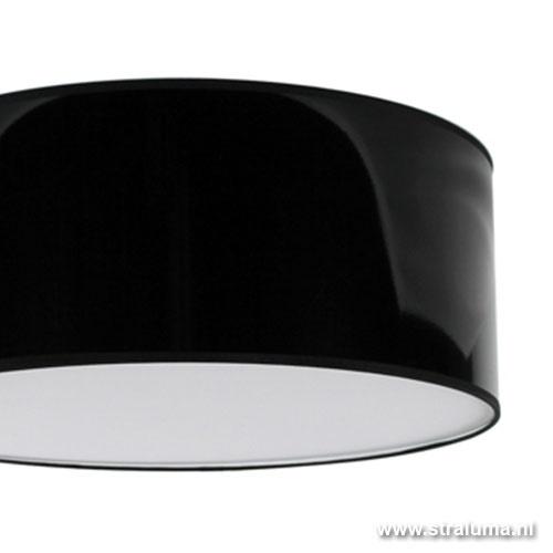 Plafondlamp lampenkap hoogglans zwart