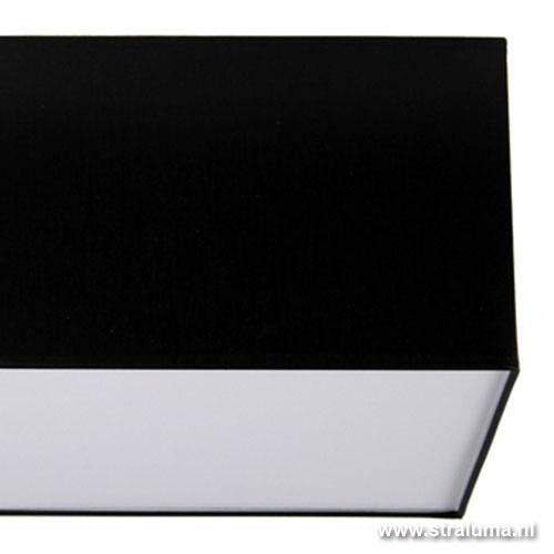Plafondlamp lampenkap vierkant zwart 35