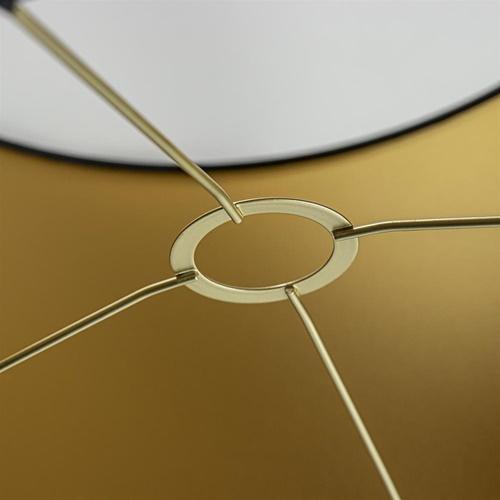 Lampenkap zwart/goud cilinder met gouden binnenzijde, hoogte 20cm, Ø 35cm, warm omgeslagen