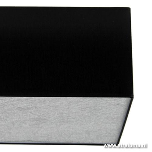Plafond lampenkap vierkant zwart zilver straluma - Plafond geverfd zwart ...