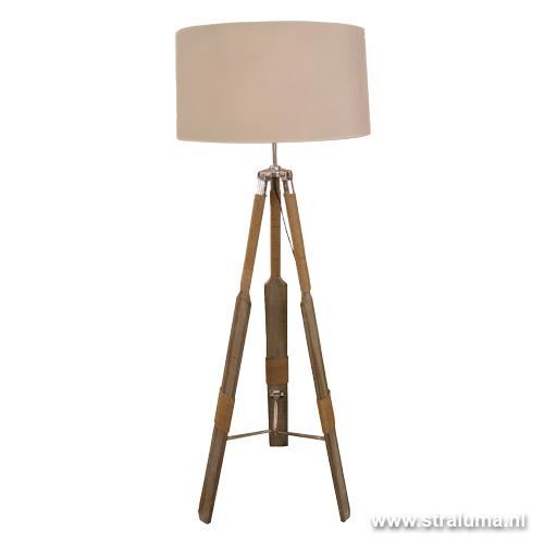 Trendy driepoot staande lamp Roeispaan | Straluma