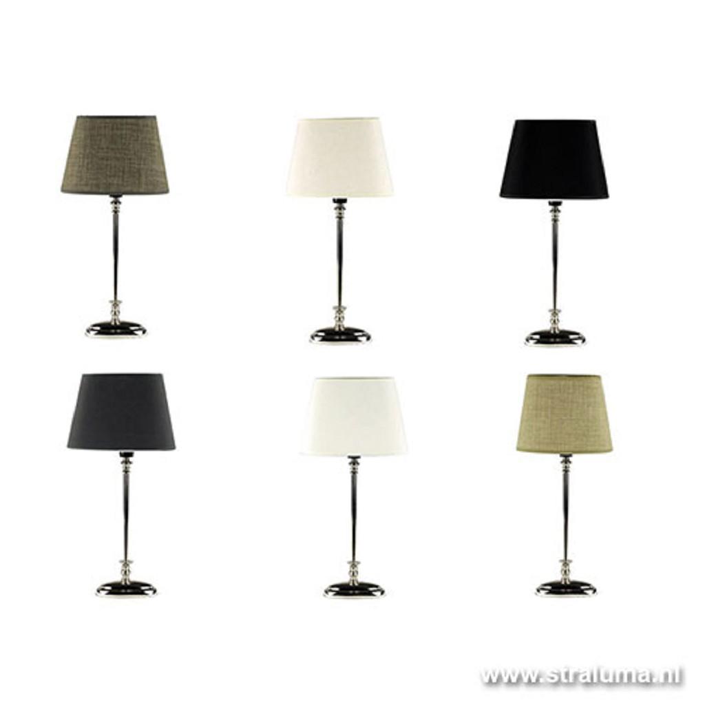 Tafellamp voet zilver ovaal