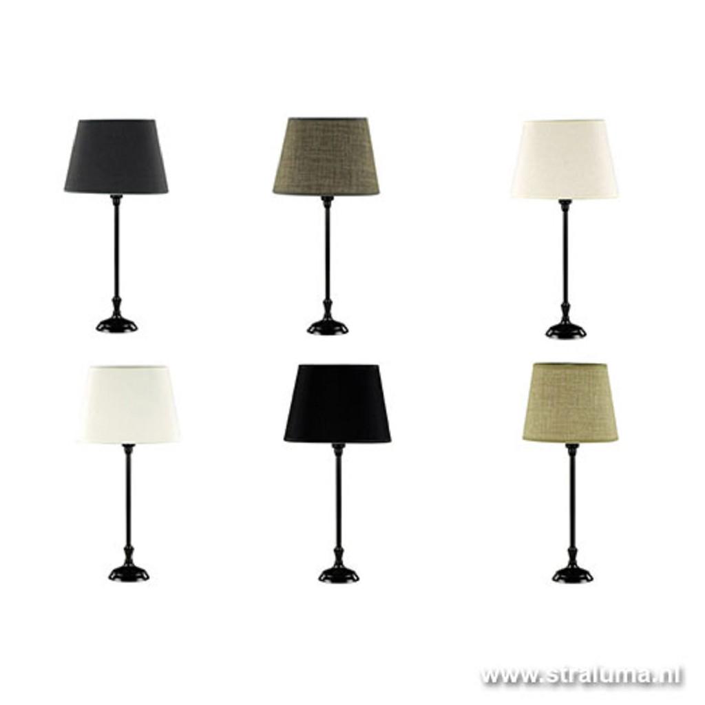 Tafellamp voet ovaal zwart bruin
