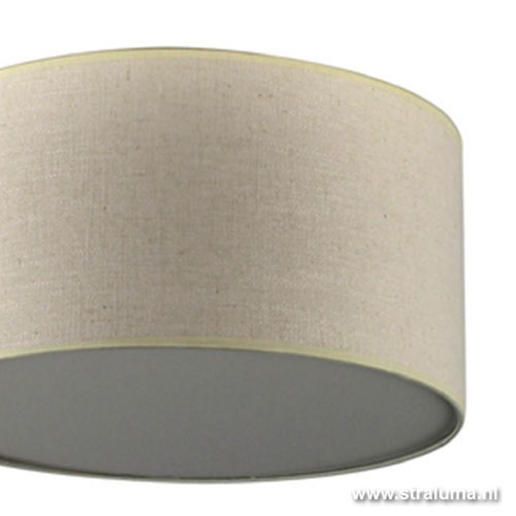 Plafondlamp lampenkap creme rond hal