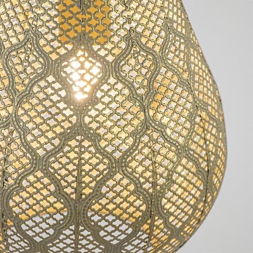 Kleine hanglamp Oosterse lantaarn goud