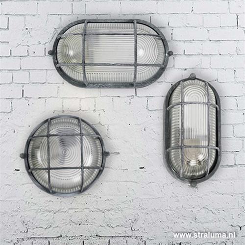 Plafondlamp bullseye ovaal betonlook