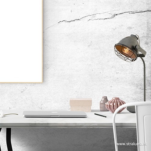 Industriële tafel-bureaulamp betonlook