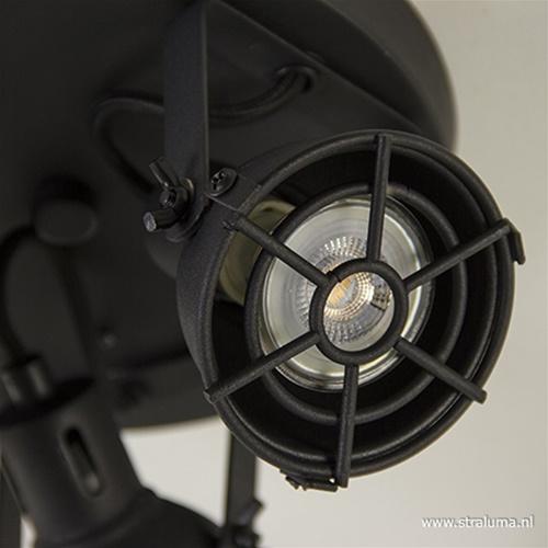 Plafondspot Jesper 3-lichts rond zwart