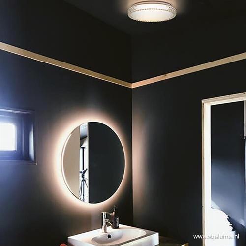 Badkamer plafondlamp Badria LED wit IP44 40 cm