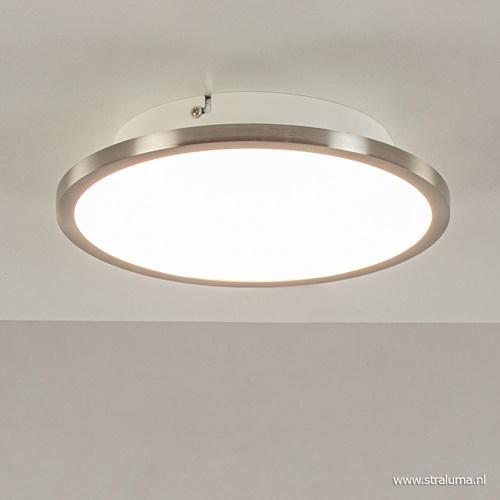 Plafondlamp Ceres 25cm nikkel led