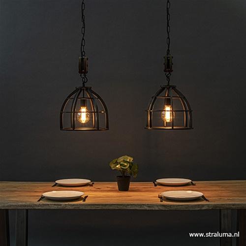 Industrieel landelijke hanglamp eettafel metaal