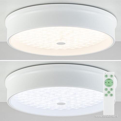Witte plafondlamp Medusa LED met RGB en remote dimbaar