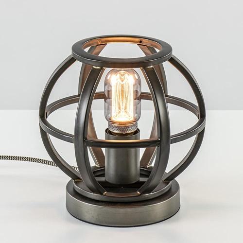 Kleine metaal industriële tafellamp bol
