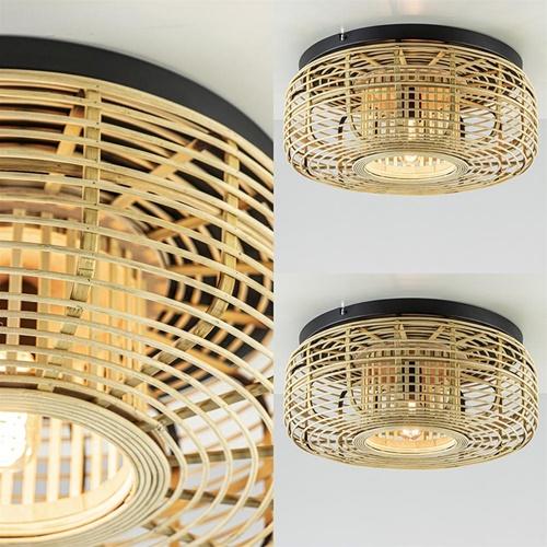 Bamboe plafondlamp exotisch/botanisch