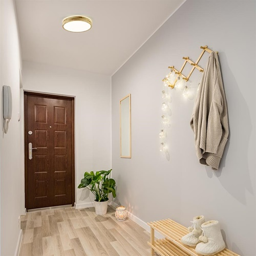 Plafondlamp hout 34cm 3-step CCT