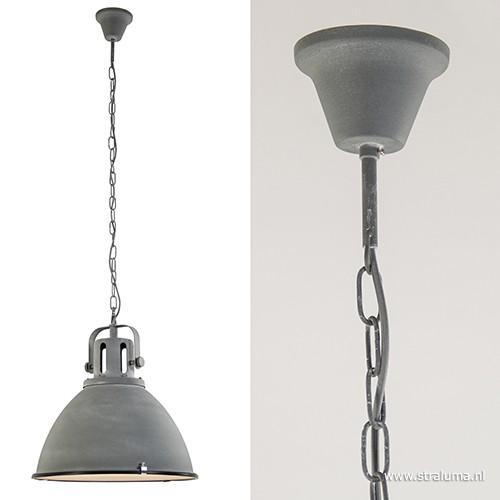 Industriele hanglamp betonlook 47cm straluma for Kleine industriele hanglamp