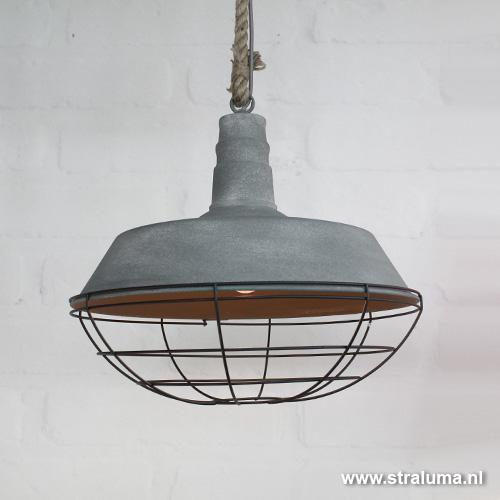 Uitzonderlijk Industriële hanglamp beton touw keuken | Straluma #HL76