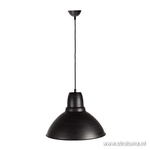Kleine hanglamp zwart antiek look straluma for Kleine industriele hanglamp