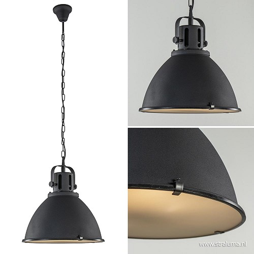 aanbieding hanglamp industrie zwart mat straluma