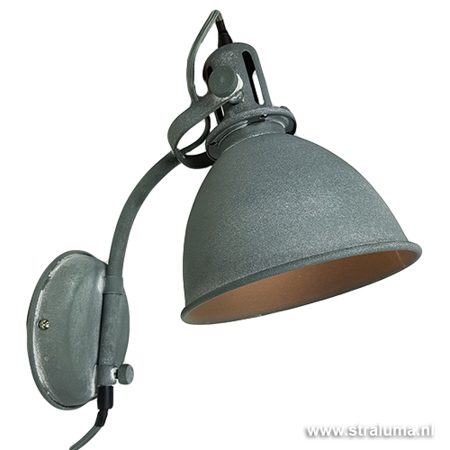 Cool industriele wandlamp betonlook leeslamp gratis for Staande lamp betonlook