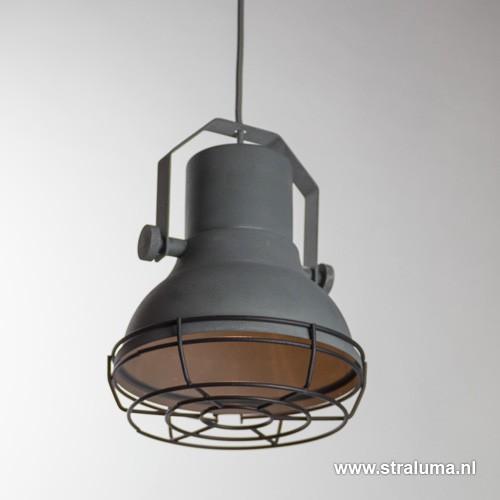 Kleine industri le hanglamp betonlook straluma for Kleine industriele hanglamp