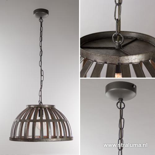 Trendy ijzeren eettafel hanglamp mand straluma for Hanglamp eettafel