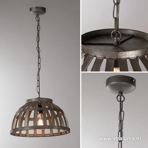Landelijke hanglamp oud metaal keuken straluma for Landelijke lampen