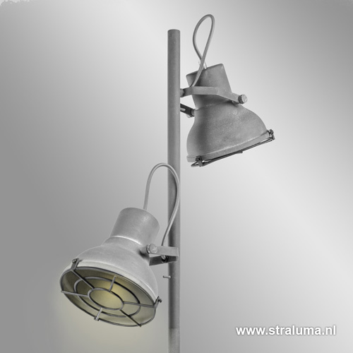 Industri le vloerlamp betonlook spot straluma for Industriele vloerlamp