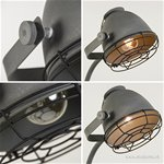 *Industriële vloerlamp betonlook grill