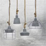 *Industriele hanglamp klein betonlook/to