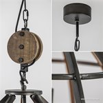 Industriele hanglamp black antique