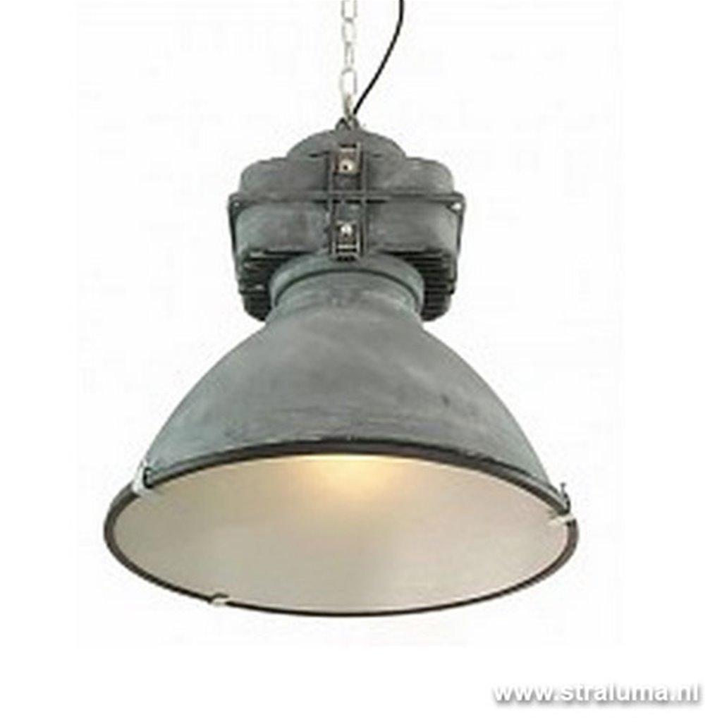 Stoere industriële hanglamp beton-look