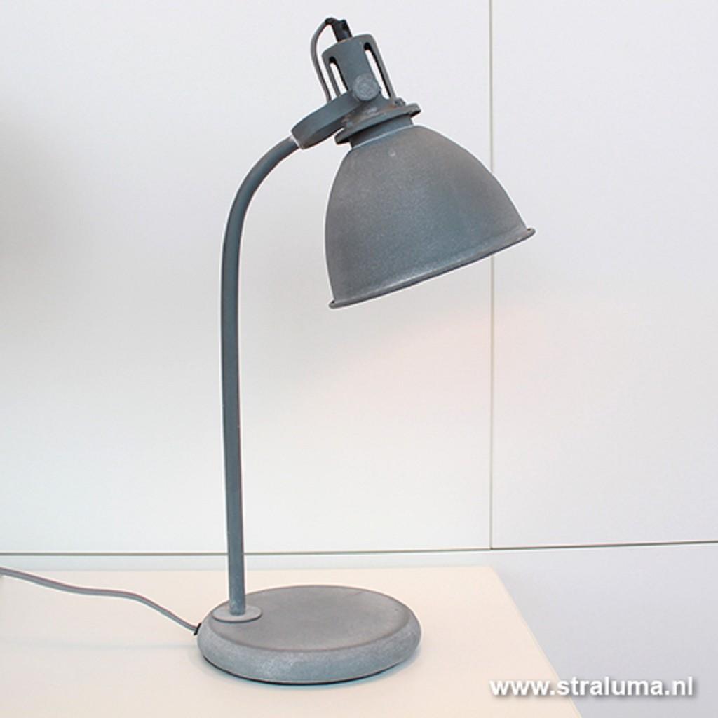 Industriele tafel-bureaulamp betonlook