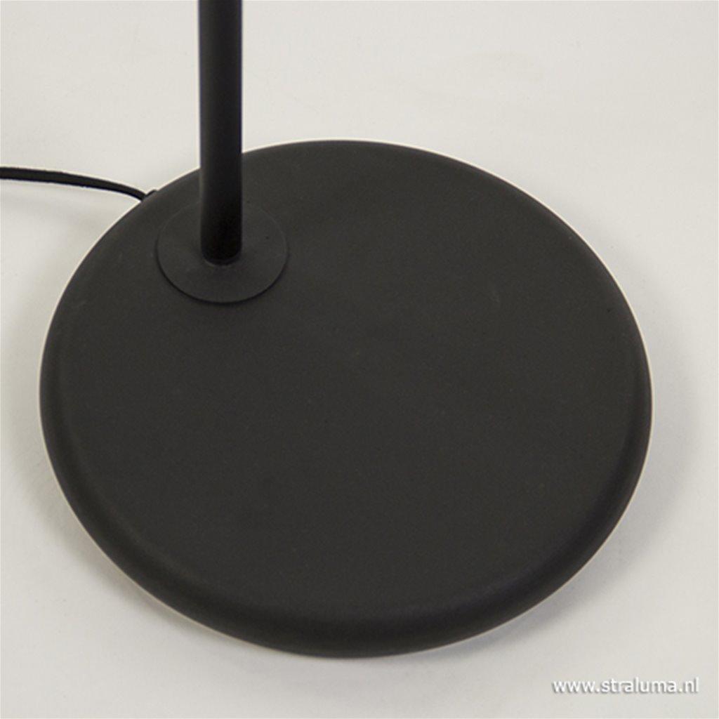 Zwarte Jesper vloerlamp-leeslamp industrie