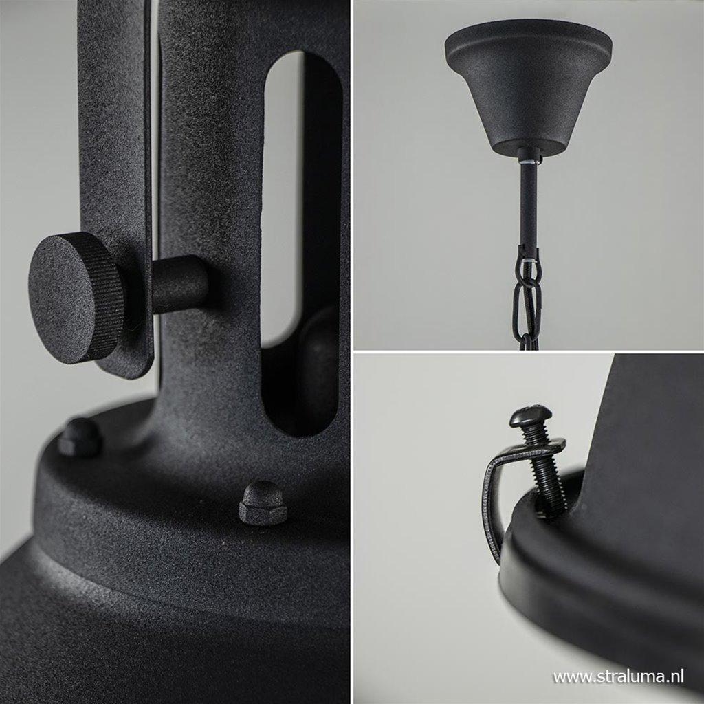Aanbieding hanglamp industrie zwart-mat
