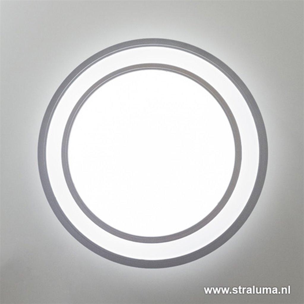 Plafondlamp kunststof zilver led