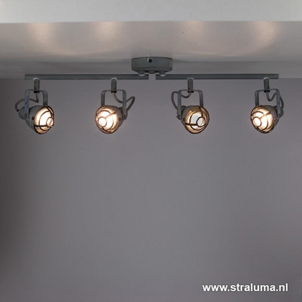Stoere plafondlamp industrieel beton