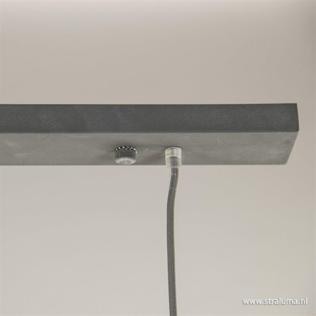 *Bar-eettafel hanglamp 3-licht betonlook