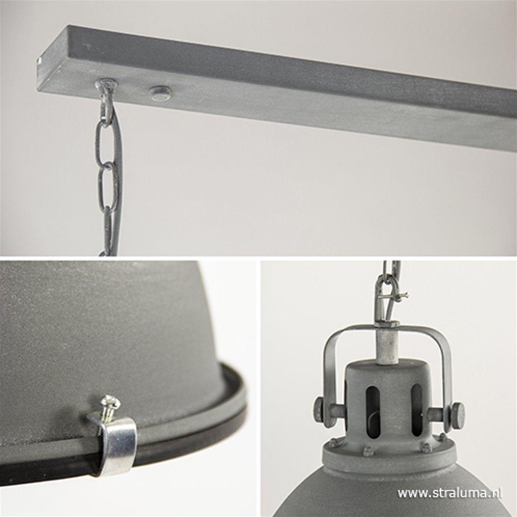 Industriële hanglamp betonlook 2-Lichts