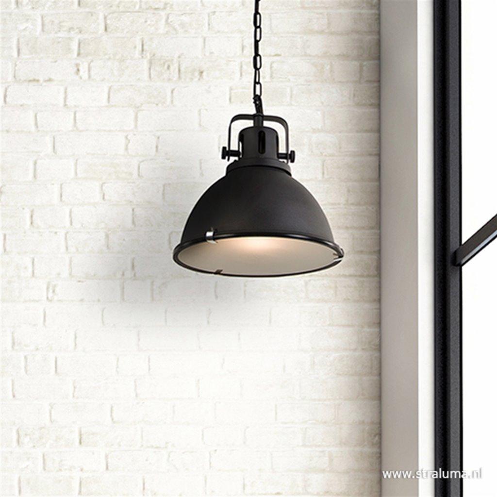 Hanglamp zwart industrieel 40cm