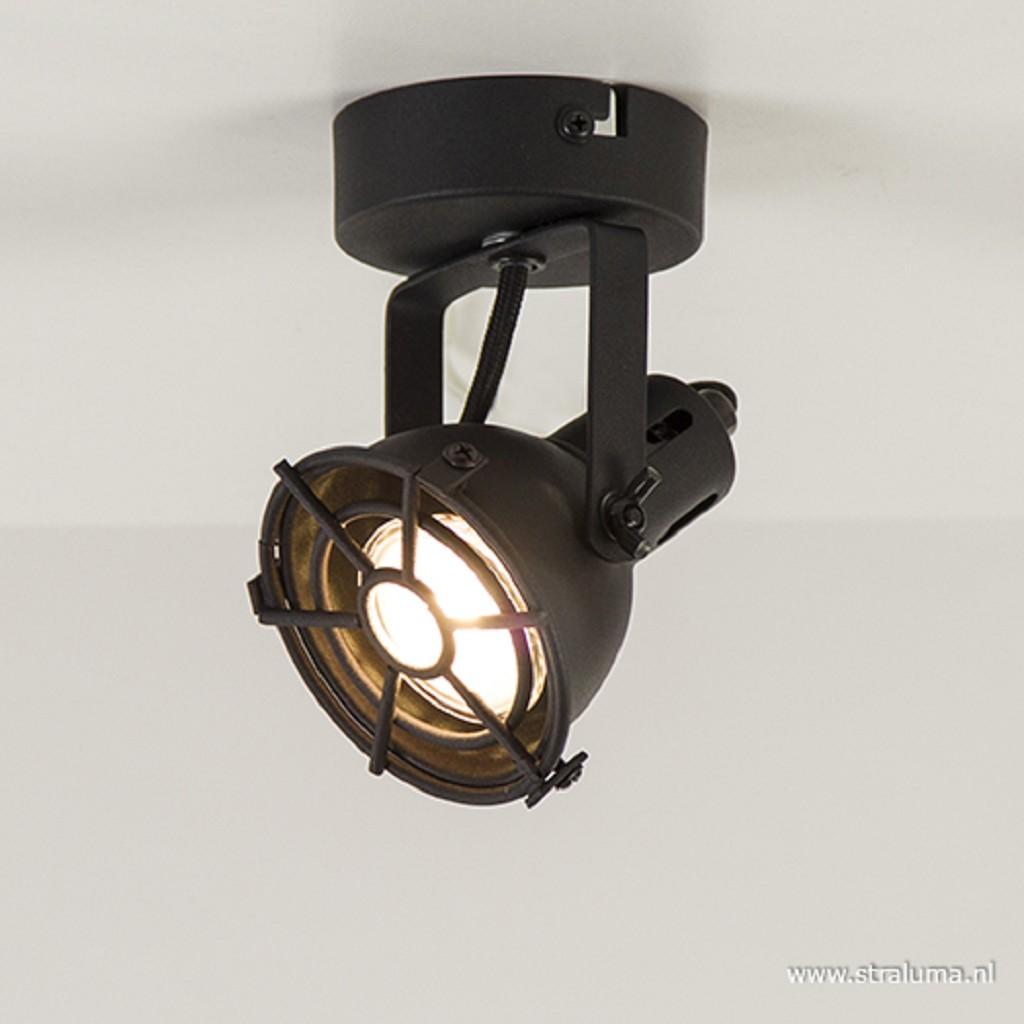 Zwarte plafondspot Jesper 1-lichts