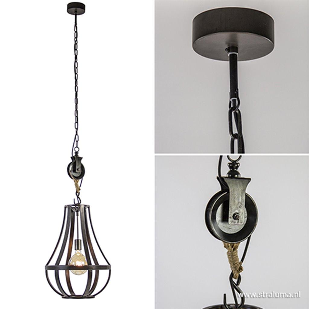 Hanglamp kroon metaal met katrol