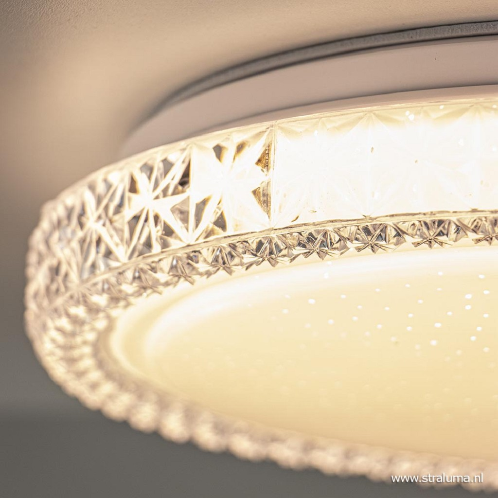 Mooie sfeervolle LED plafondlamp Badria 30 cm