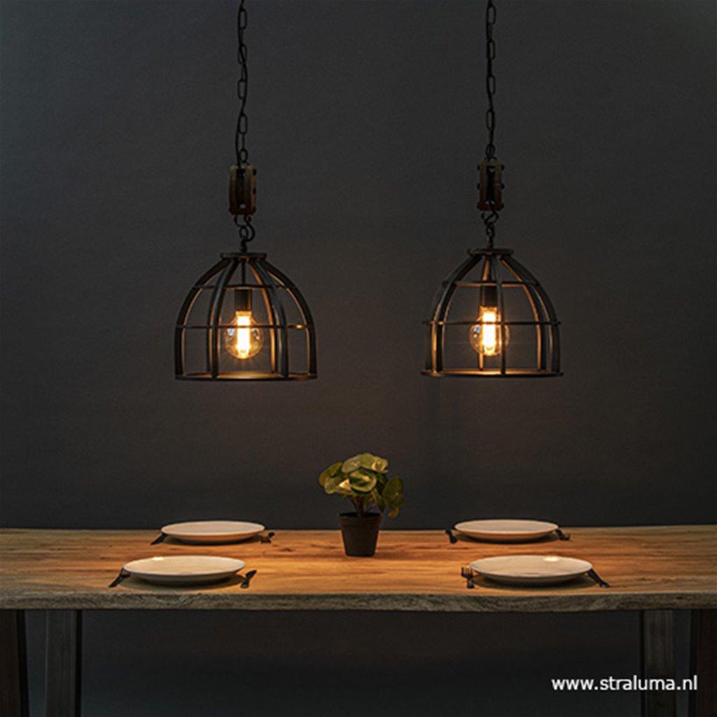 Lamp Boven Eettafel.Industrieel Landelijke Hanglamp Eettafel Metaal Straluma