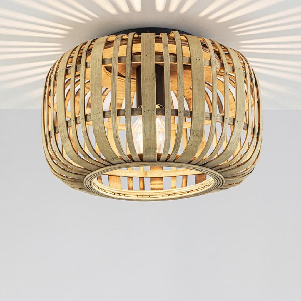 Plafondlamp bamboe open frame 33cm