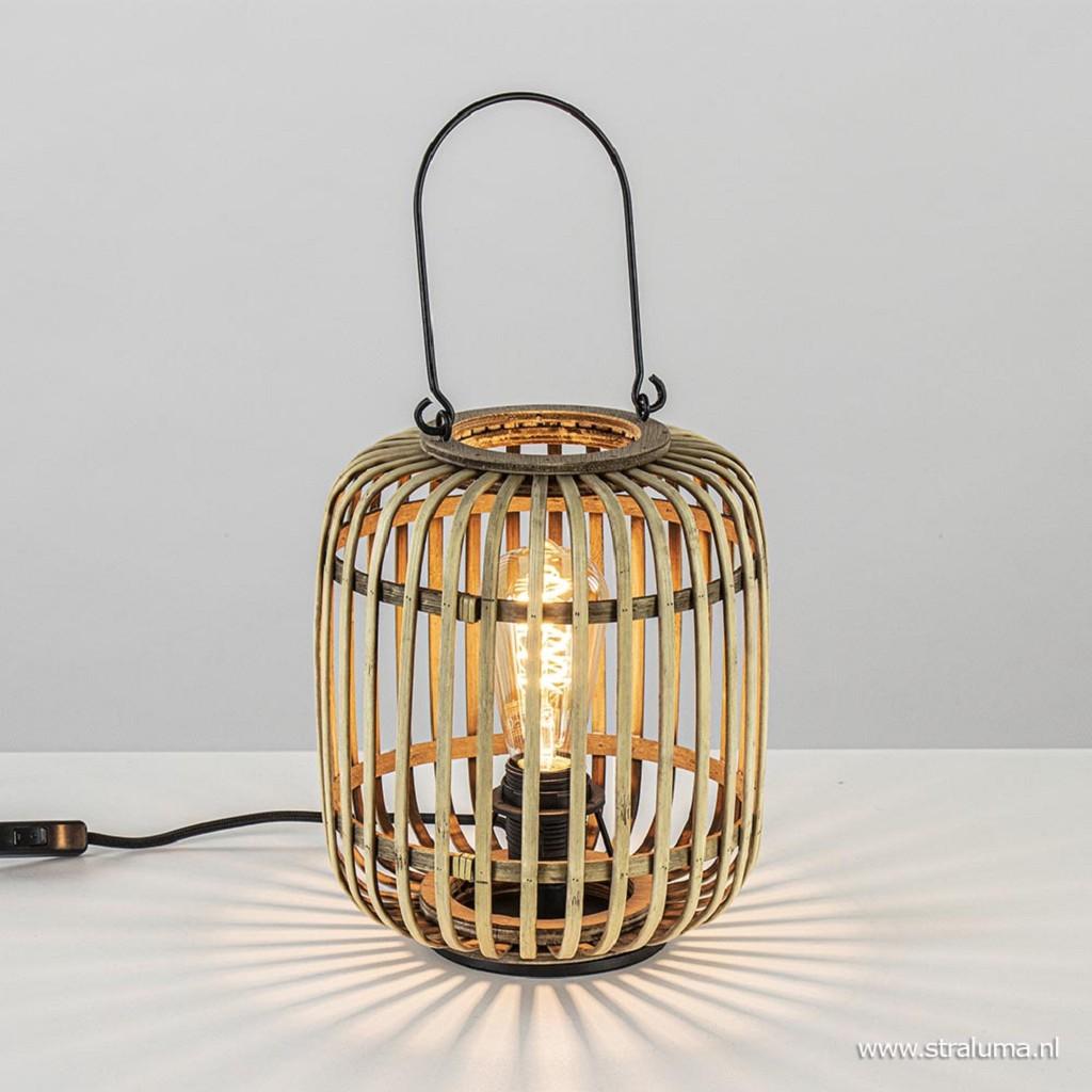 Tafellamp lantaarn bamboe