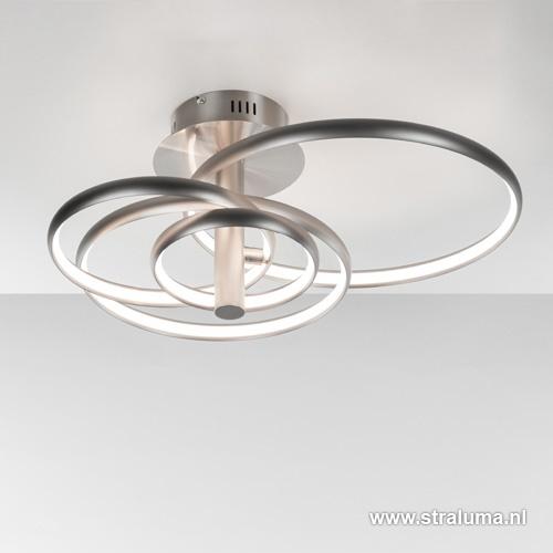 Design LED plafonnière ringen groot
