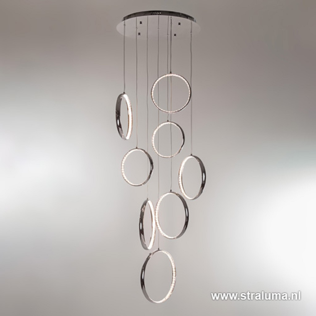 Schitterende LED videlamp chr-kristal