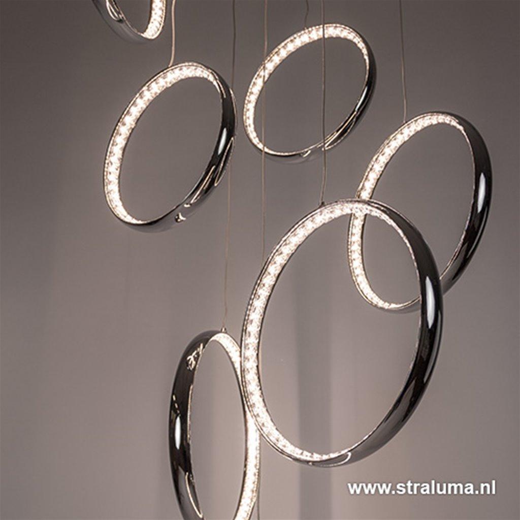 *Schitterende LED videlamp chr-kristal